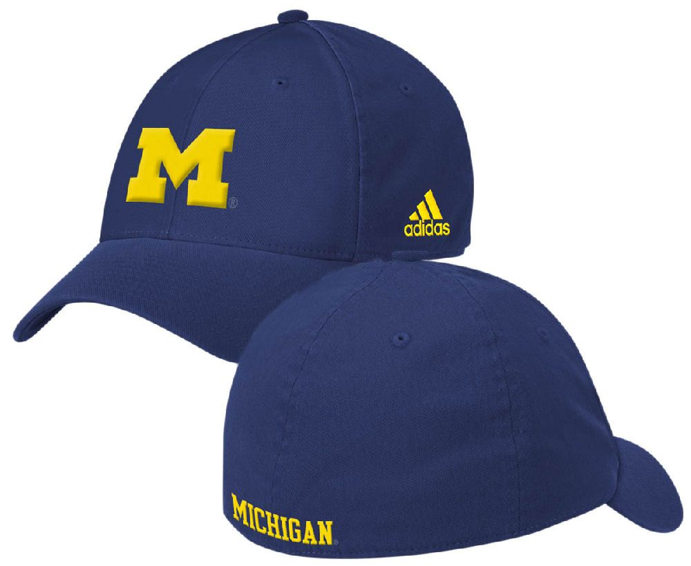 Michigan Wolverine Blue Relaxed Fit Flex Sized Cap by Adidas $22.95