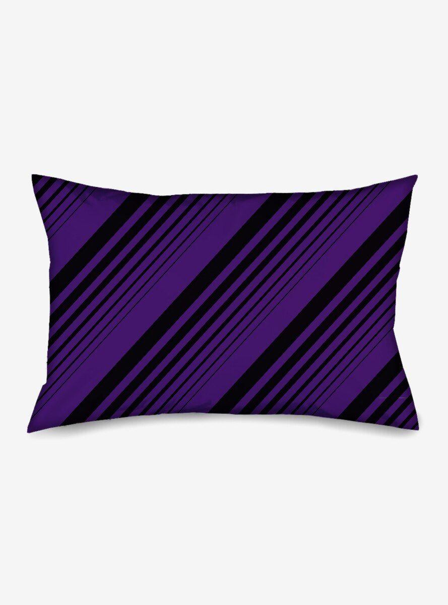 Diagonal Stripes Black Purple Standard Pillowcase