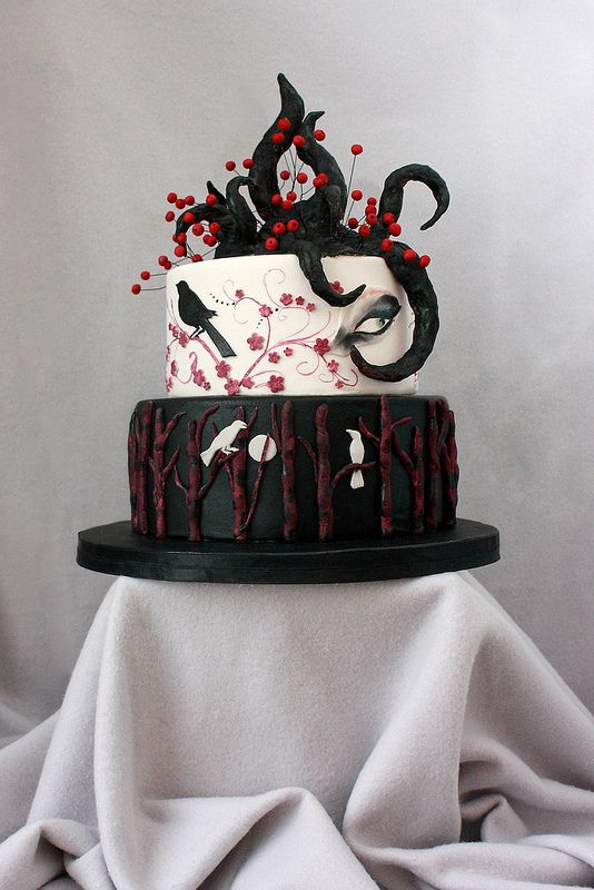 While Searching For Goth Cakes Thats When Julie And I Decided That We Had To Have The Big Hair On Top Give Props Lead Singer Robert Smith