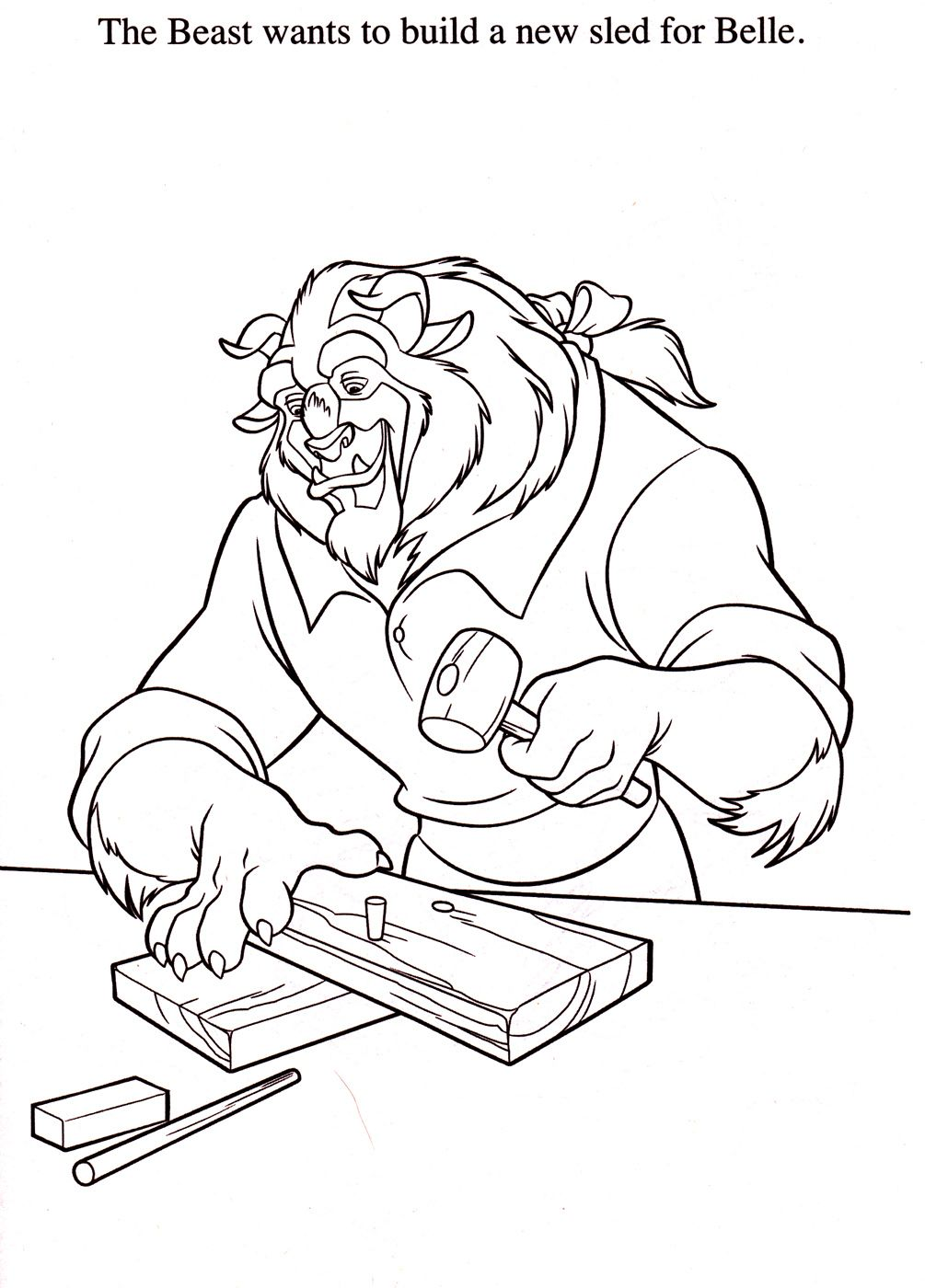 beauty and the beast coloring pages disney coloring pages