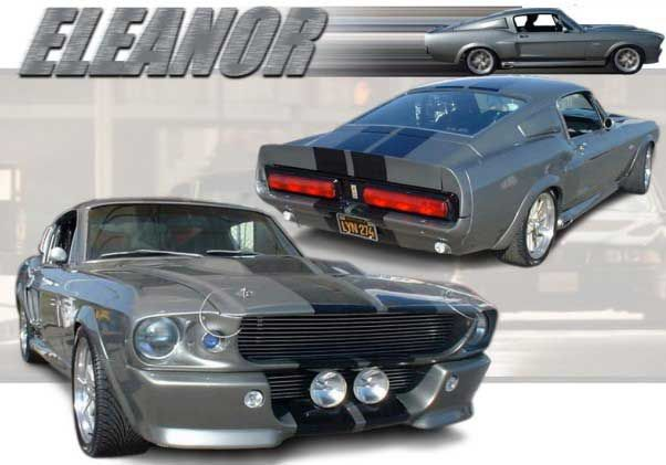 Ford Shelby Mustang Gt500 Eleanor Paper Car Free Vehicle Paper Model