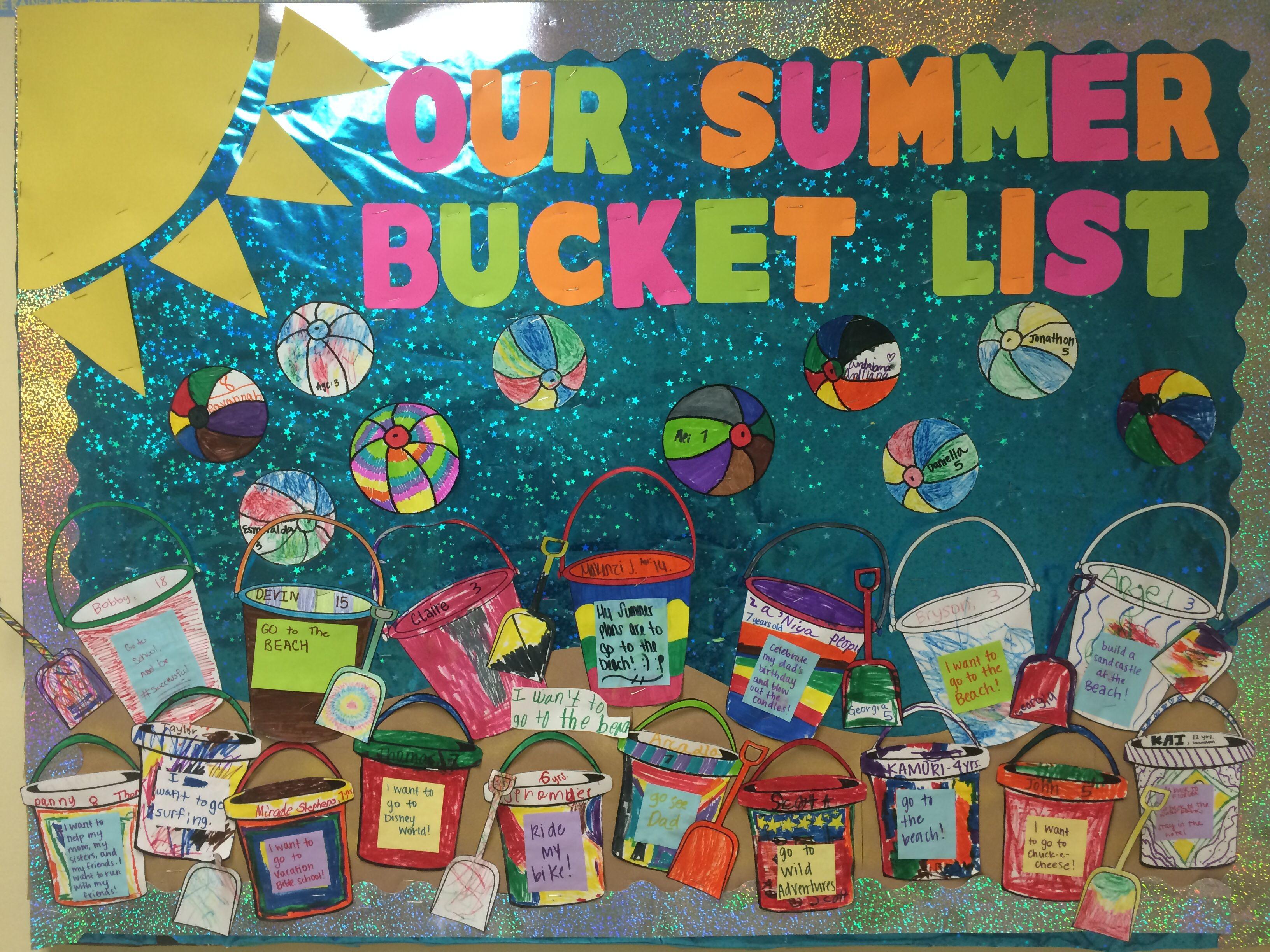 Summer Bucket List Child Life Bulletin Board At Phoebe