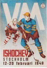 Original vintage poster ICE HOCKEY W.C. 1949 STOCKHOLM