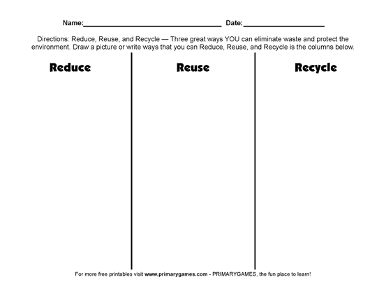 {Earth Day Worksheets Reduce Reuse Recycle – Reduce Reuse Recycle Worksheets
