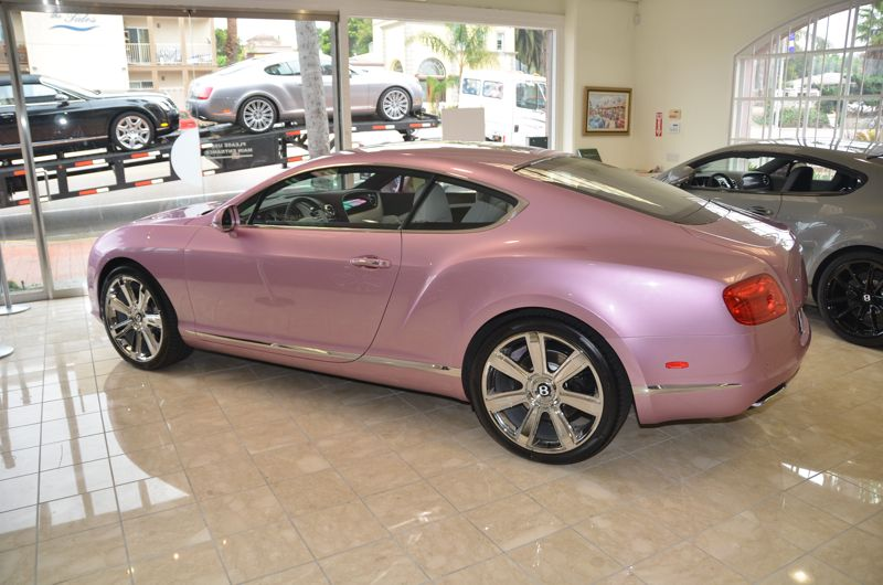 Soooo would luv to have a pink champagne Bentley. My FAV car ... on