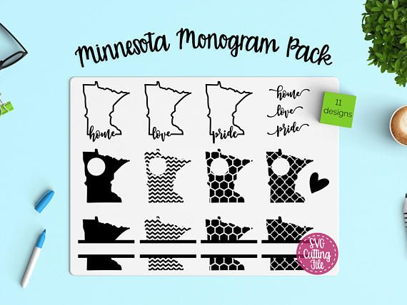 The Possibilities Are Endless With This Minnesota State Monogram