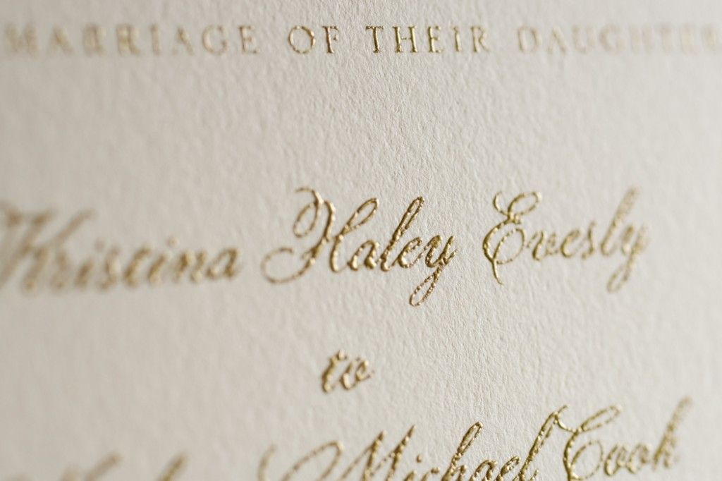 Learn About Thermography Wedding Invitations In Our Guide To Invitation Printing Techniques Womangettingmarried