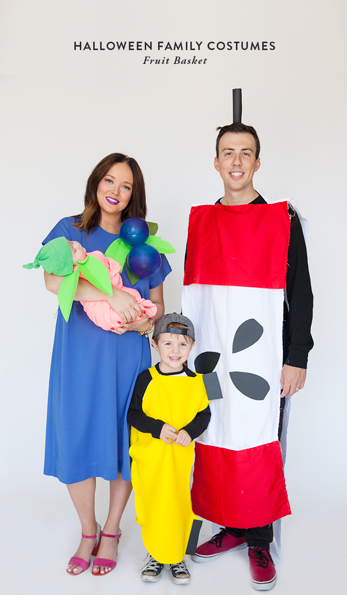 Halloween Family Costume Fruit Basket