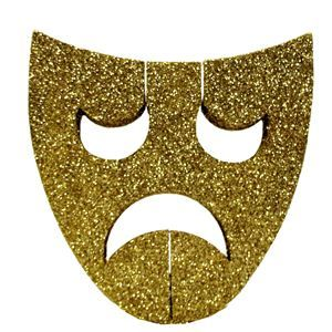 Mask Decoration Ideas Fascinating Gold Glitter Tragedy Mask Decoration  50Th Birthday Cake Ideas Review