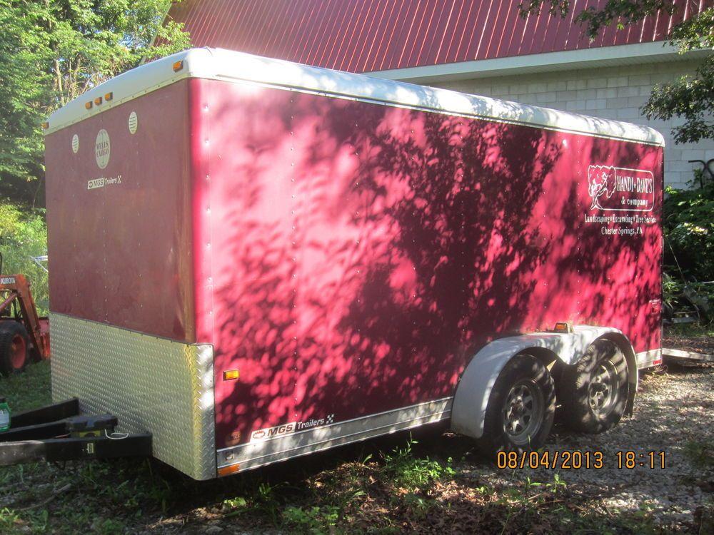 Wells Cargo Cargo Wagon Enclosed Trailer 14ft L X 7 Ft W Landscape Trailers Enclosed Trailers Landscaping Tools