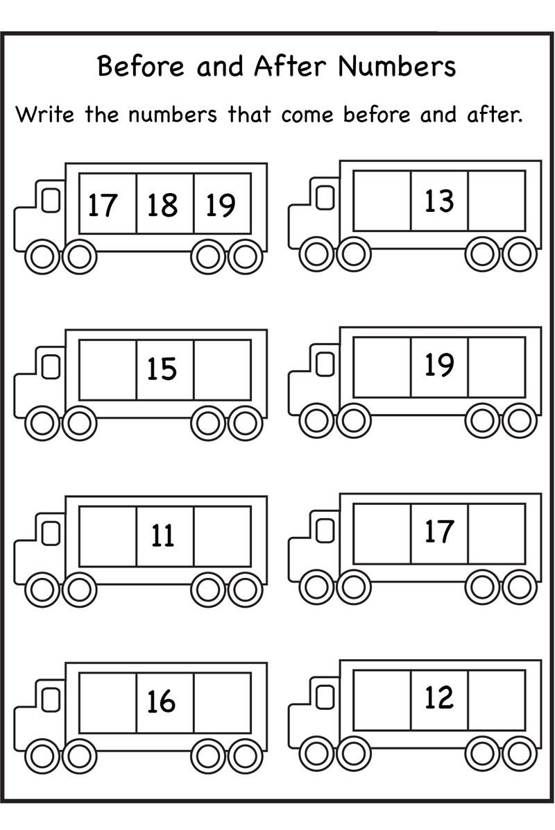 Before And After Number Worksheets For Math Kindergarten Math Worksheets Kindergarten Math Worksheets Free Math Worksheets [ 1195 x 800 Pixel ]