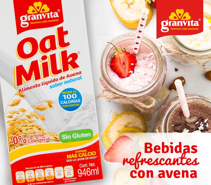 Granvita nutricional informacion avena de leche