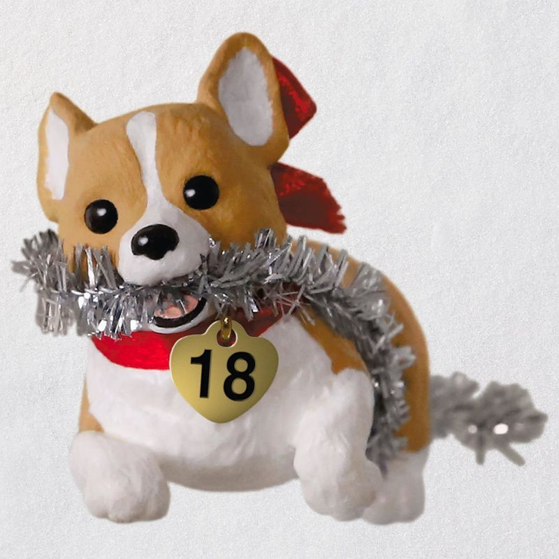Keepsake Christmas Ornament 2020 Year Dated, Puppy Love Welsh Corgi 2018 Puppy Love #28 Welsh Corgi Hallmark Keepsake Ornament