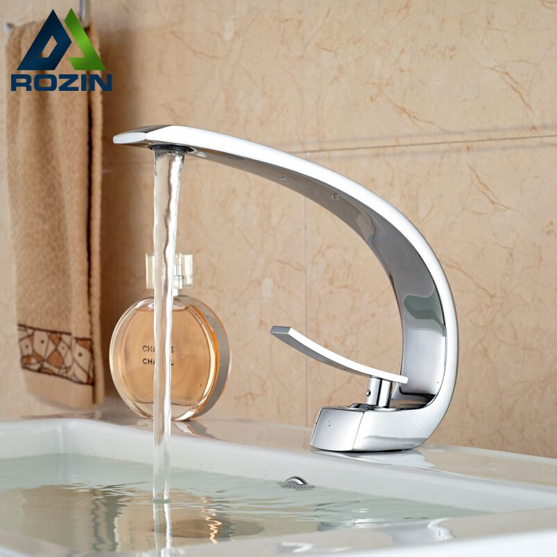 Designer Bathroom Sinks Basins Adorable 2017 New Bathroom Sink Basin Faucet Deck Mount Bright Chrome Design Ideas