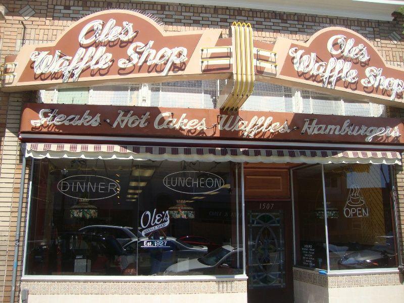 """""""Best Diner"""" Ole's Waffle Shop (1507 Park Street)... Best of Alameda 2014 winner via Alameda Magazine"""