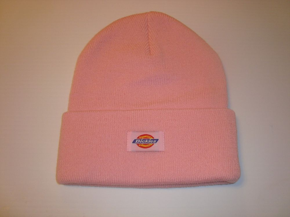 f6013665091 Dickies Core 14 Inch Beanie Cuff Knit Cap Hat Men Women Pink One Size Most  NWT