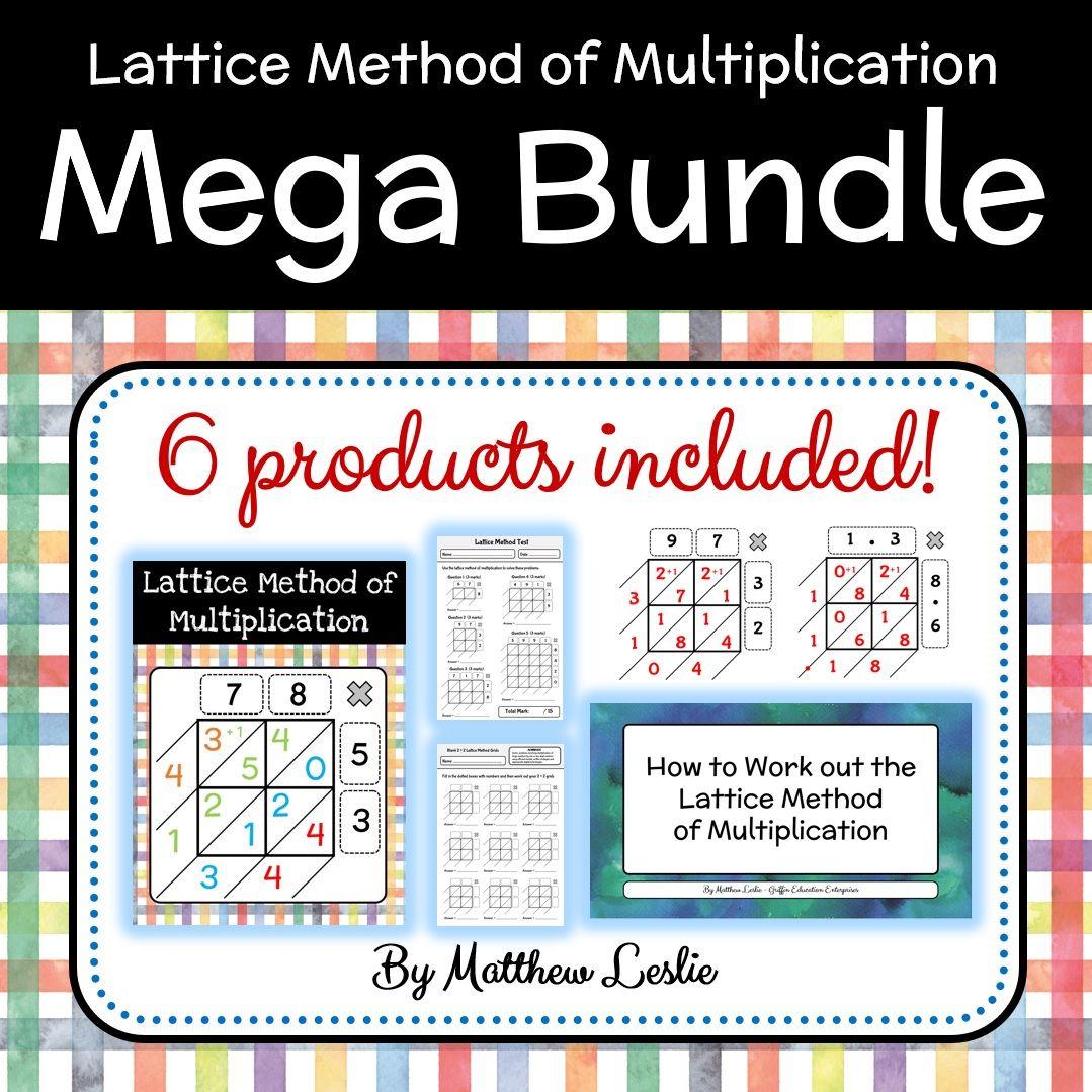 Lattice Method Of Multiplication Mega Bundle