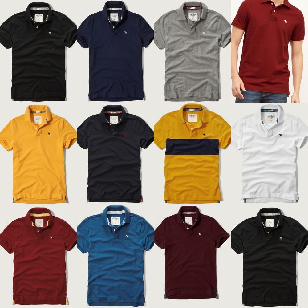 Nwt Abercrombie & Fitch By Hollister Mens Muscle Fit Polo Shirt ...