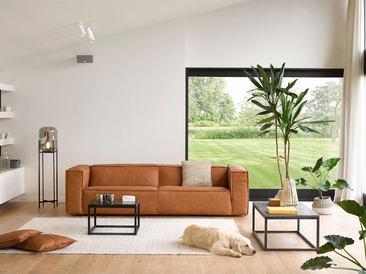 Cognac Lederen Salon Gero Wonen Studiopuro Meubel Ideeen Thuisdecoratie Interieur
