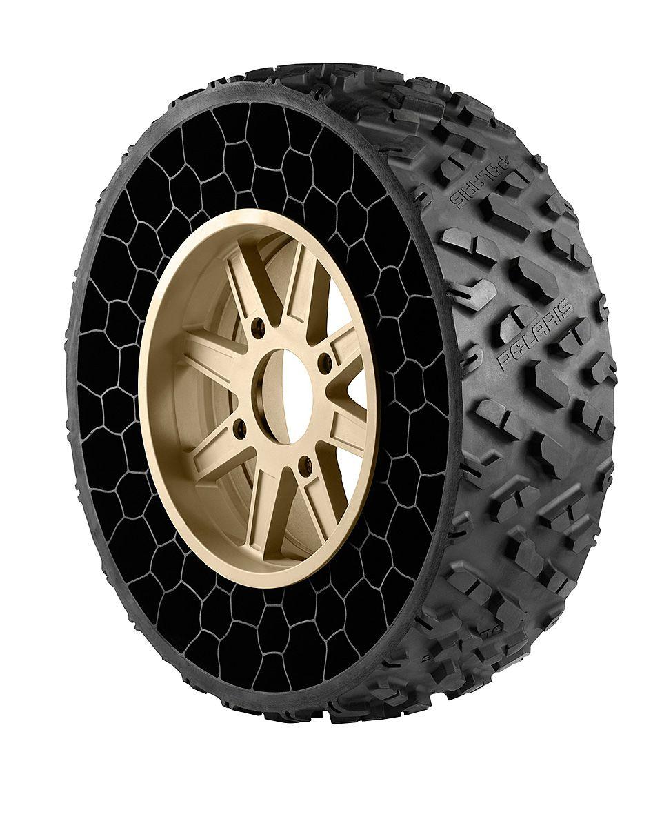Polaris Atvs On Non Pneumatic Tires Car Tires Concept Car Design Car Wheels
