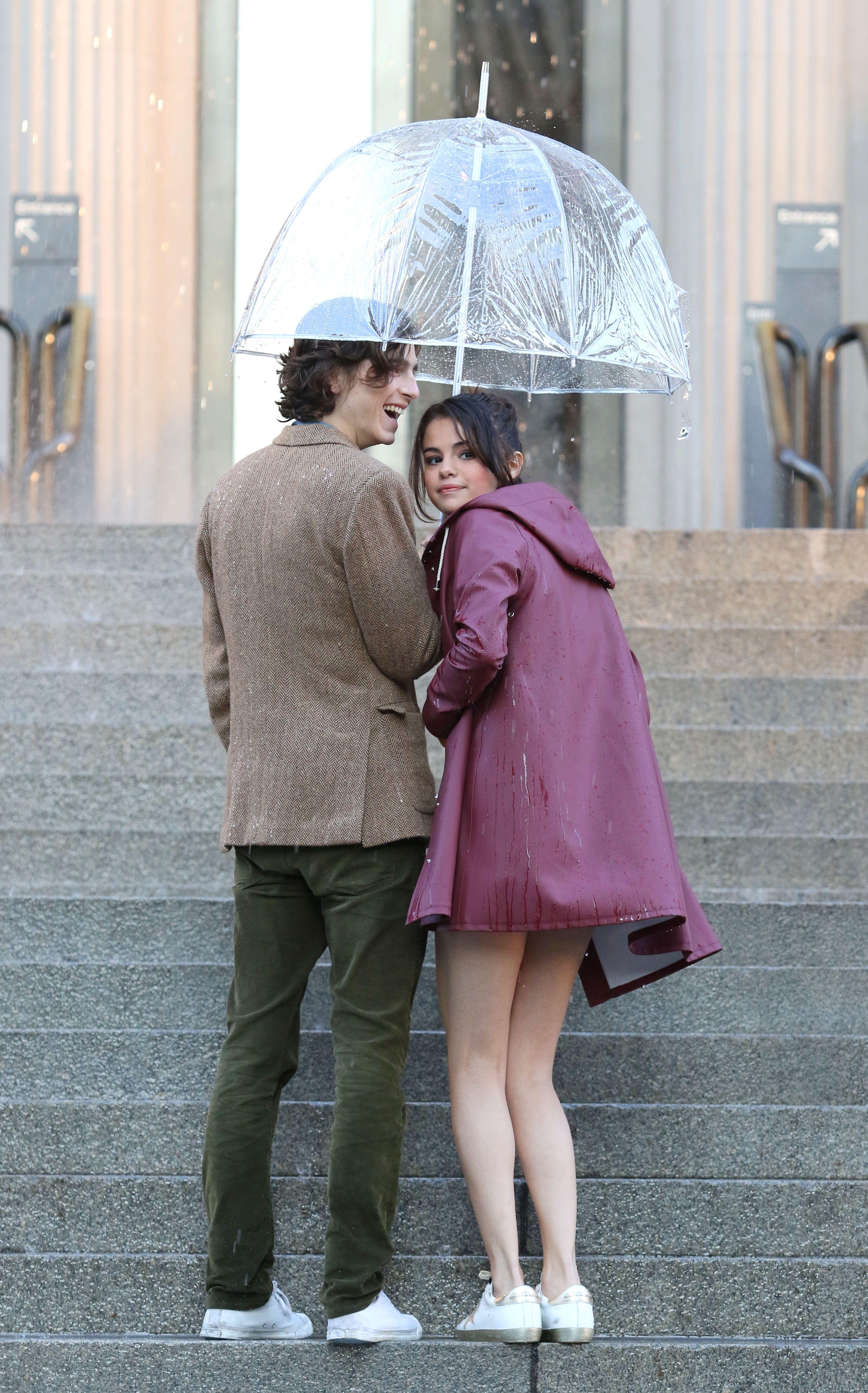 Selena Gomez On the set of Woody Allen film in NYC 10/03