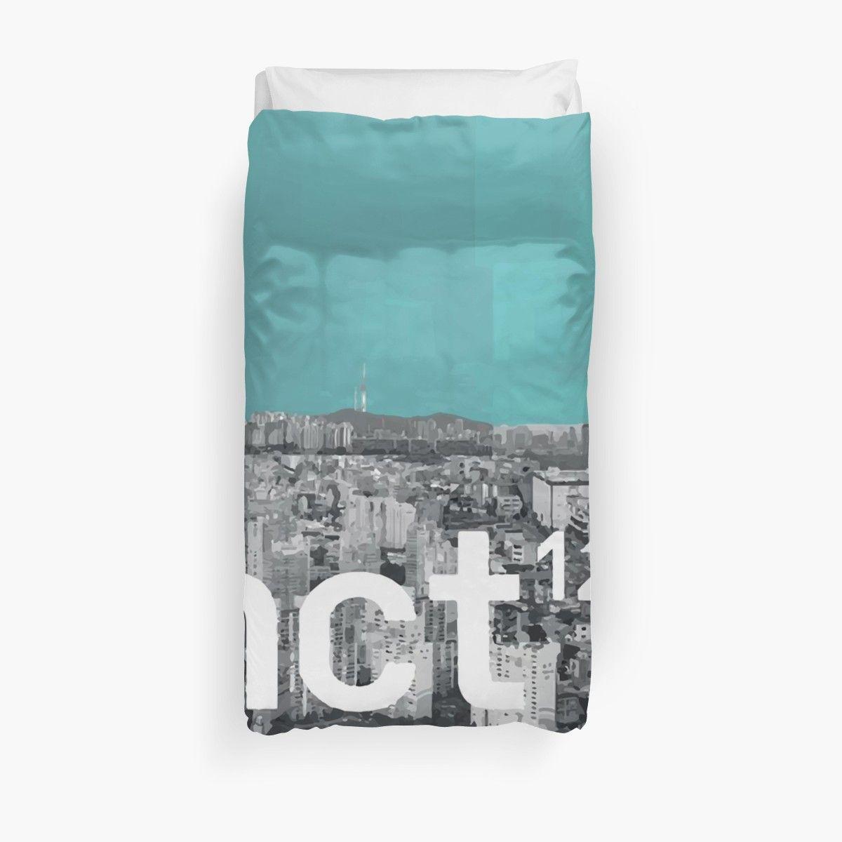 'N C T 127 - IRREGULAR CITY.' Duvet Cover by Duckiechan