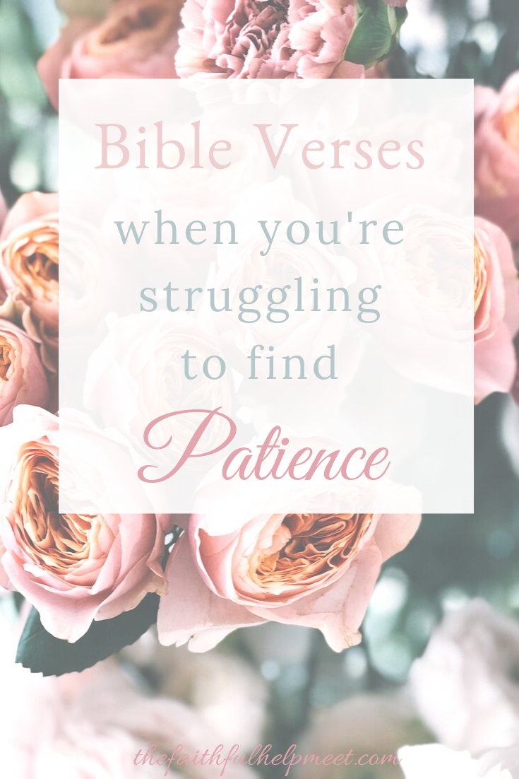 These are some of the best bible verses when you're struggling to find patience. I always thought I was a pretty patient person. Then I had kids. When it was just one toddler once in a while my patience would run thin. But when there were two conspiring against me I never realized how fast I could lose my patience. It has been a huge battle for me as a mom of two. I'm slowly learning, at least I think, how to deal with situations better and to be slow to anger.The other half of patience can be e