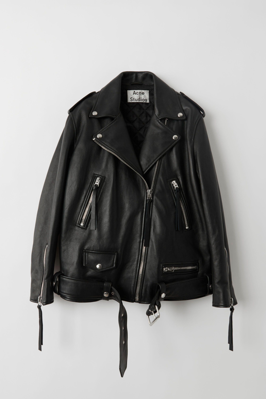 Acne Studios New Myrtle Black Oversized Leather Jacket Best Leather Jackets Fashion Jacket Outfit Women [ 3000 x 2000 Pixel ]
