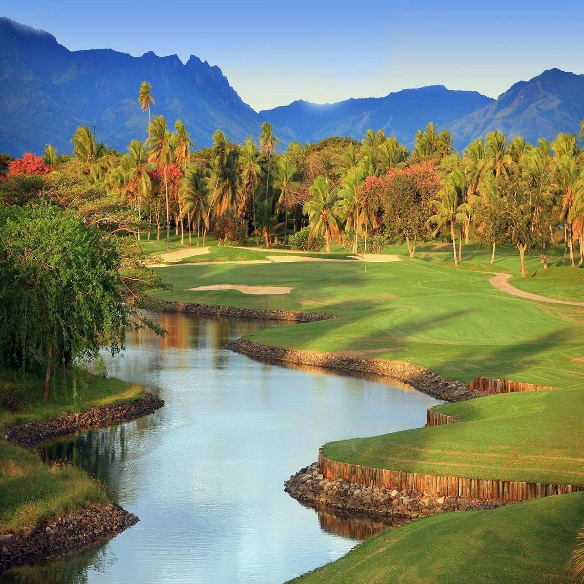 Golf Course Fiji Golf courses, Island resort, Fiji resort