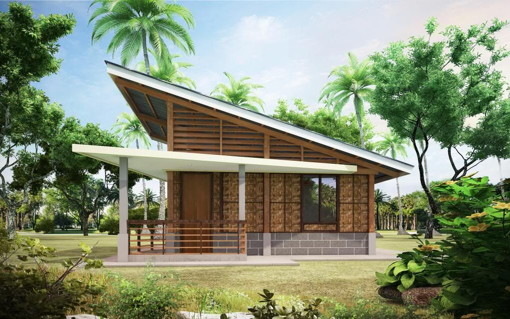 Modern bahay kubo home inspiration architecture for Small house design native