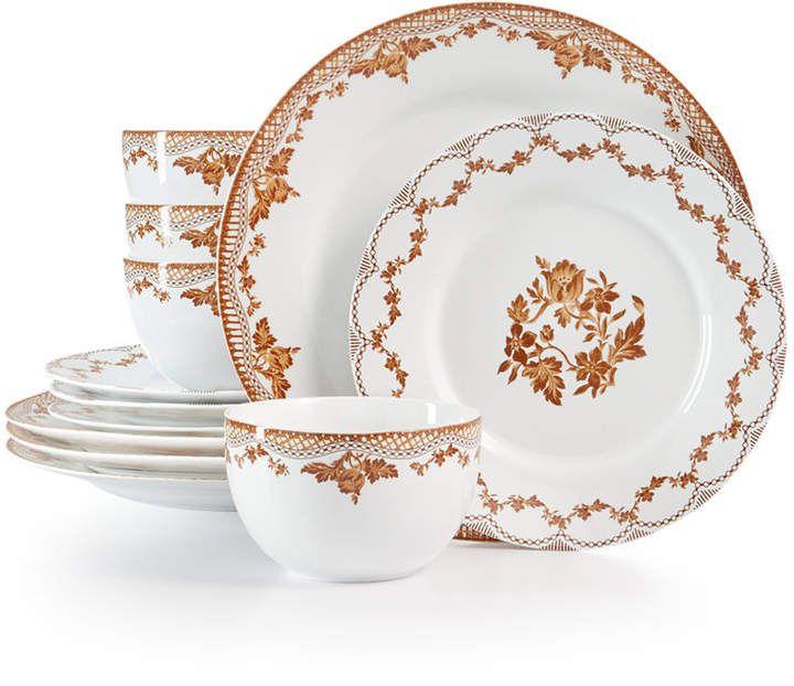 Martha Stewart Collection Closeout Sepia 12 Pc Dinnerware Set