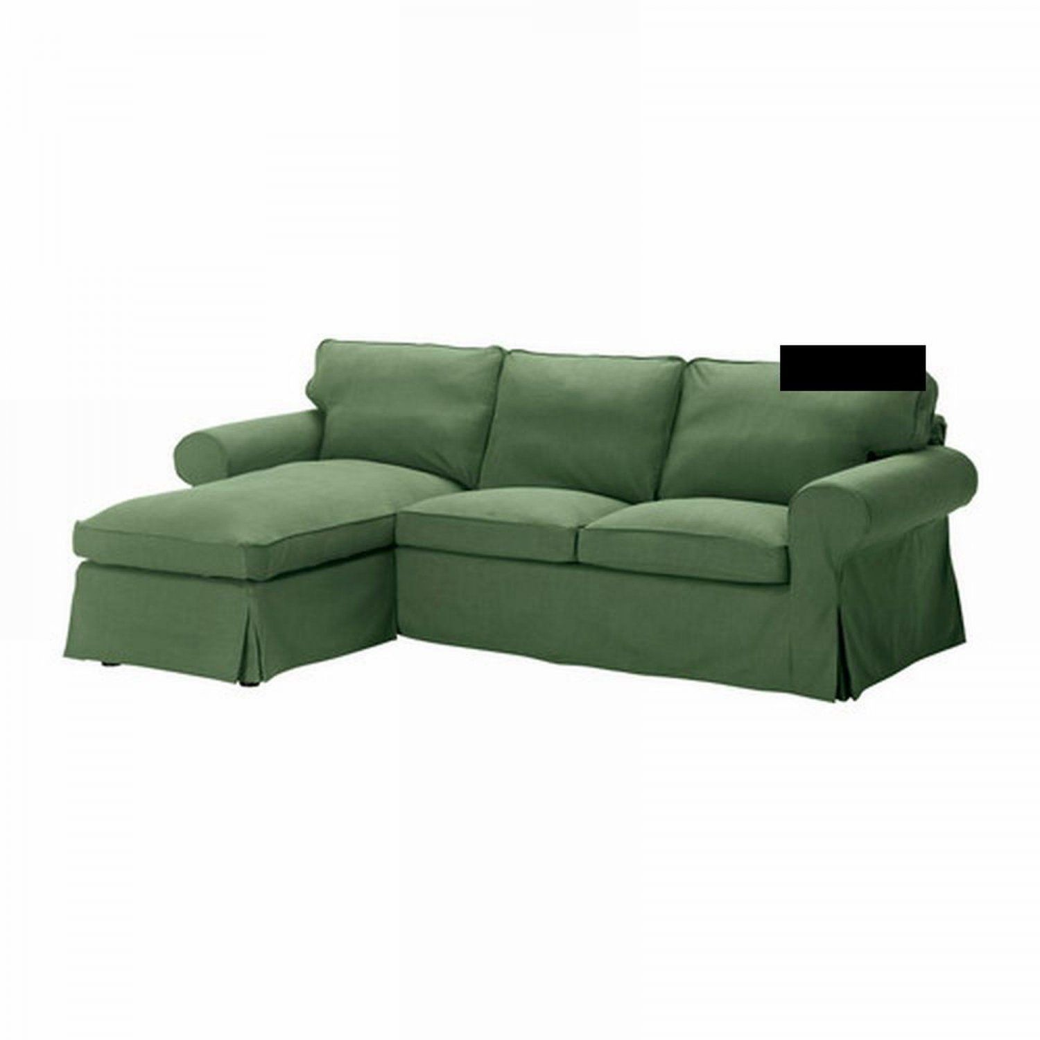 IKEA EKTORP 2 Seat Loveseat sofa with Chaise COVER Slipcover