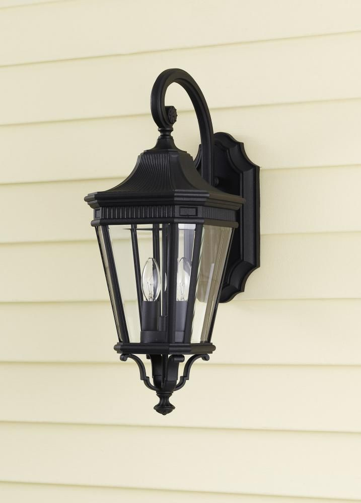 Feiss   Two Light Black Clear Beveled Glass Wall Lantern. Www.ctlighting.com
