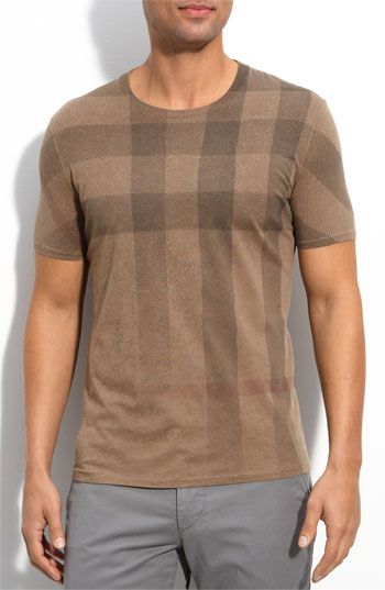 85ec0aa52 Burberry Check Print T-Shirt....want this for my boyfriend | This is ...