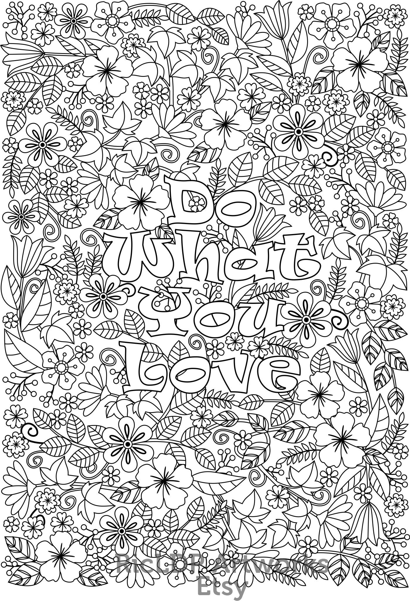 inspirational flower coloring pages - photo#11