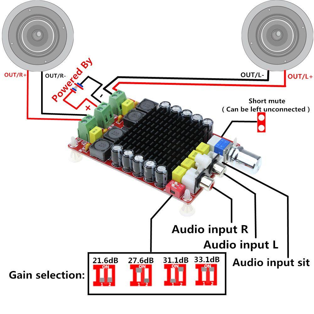 TDA7498 2x100 W Scheda Amplificatore di Potenza Digitale