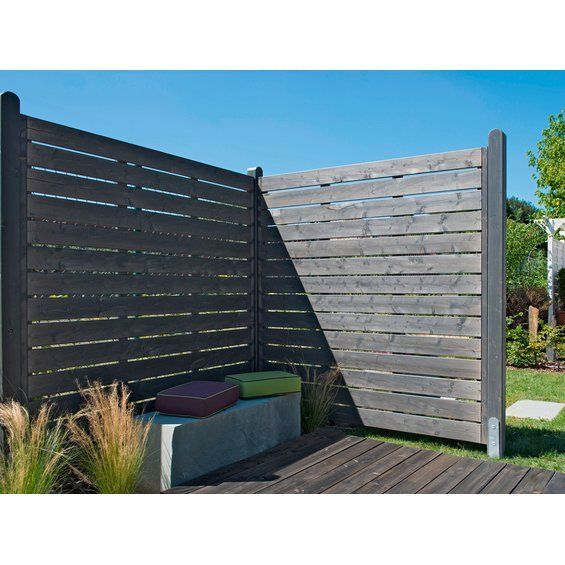 Privacy Fence Element Midsommar Closed Pre-grayed 89 Cm X