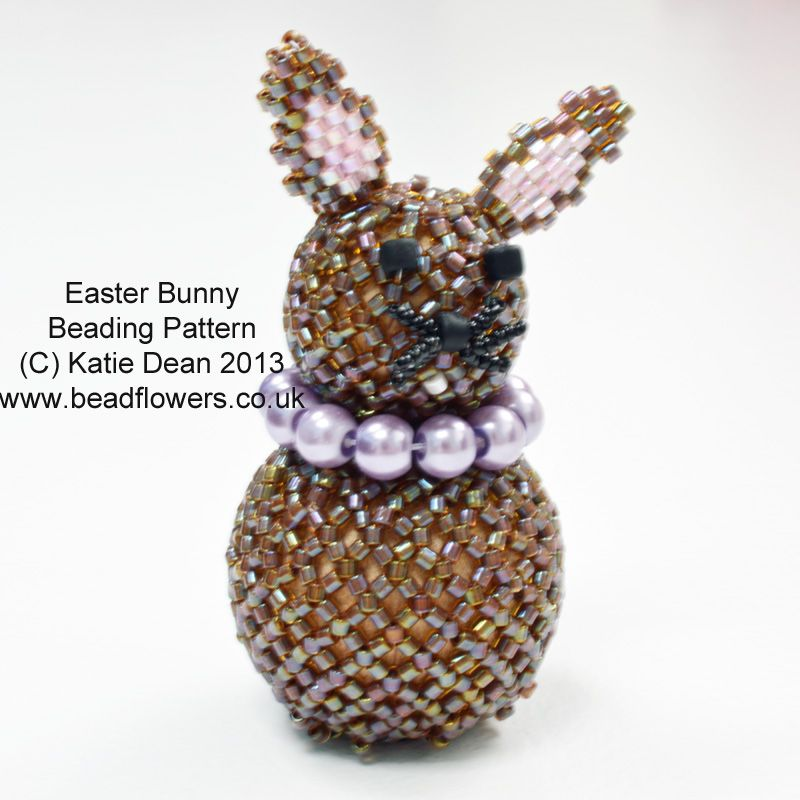 Easter Bunny Pattern Beading patterns, Beaded christmas