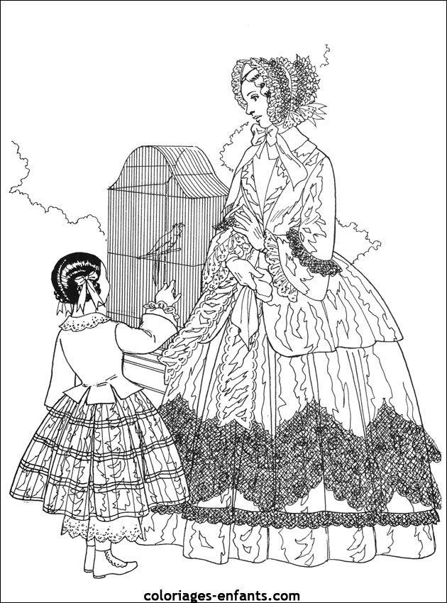 coloriages-princesses-48.jpg (630×850)   Stare stroje   Pinterest ...