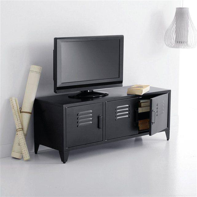 banc tv hiba pour cran jusqu 39 50 pouces 127 cm la redoute interieurs style indus prix. Black Bedroom Furniture Sets. Home Design Ideas