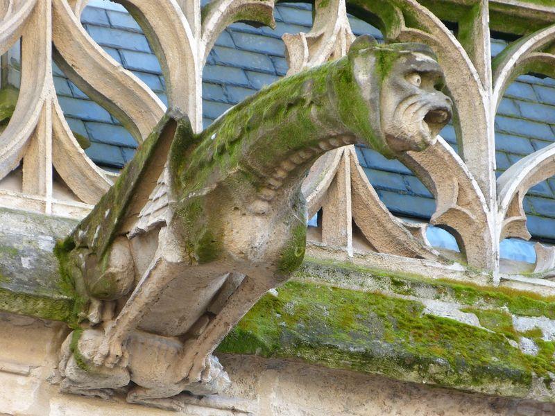 Décoration médiévale murale en pierre Gargouille Palais de Justice de Rouen