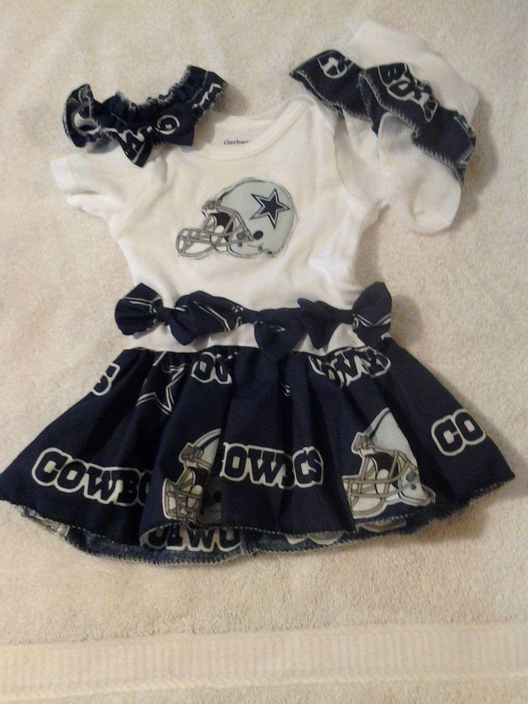 Dallas Cowboys Baby Girl Clothes : dallas, cowboys, clothes, Dallas, Cowboys, Dress, Print, Headband, Socks.., .00,, Etsy., Baby,, Outfits,, Cowboy, Clothes