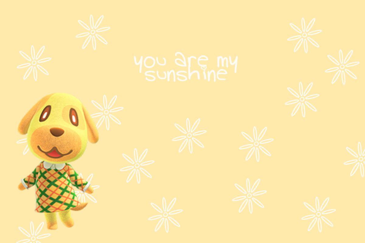 Goldie Wallpaper For Desktop Ipad Etc Animal Crossing Ideas Wallpaper Animal Crossing
