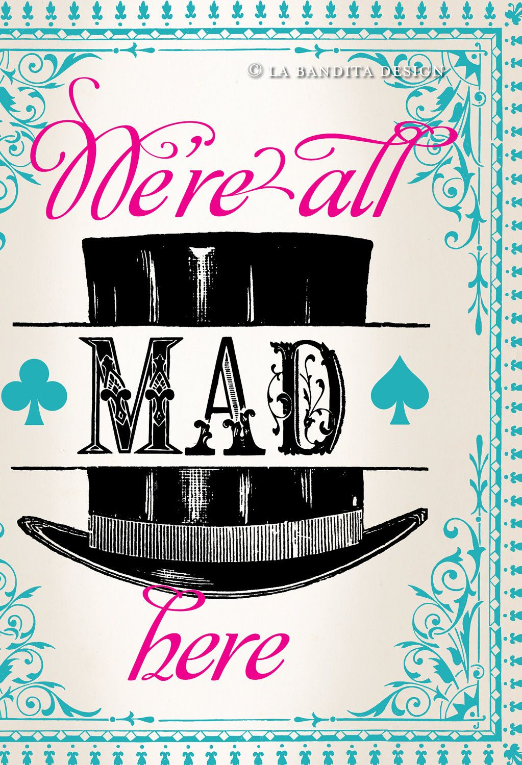 Alice In Wonderland party signs animated email invitation 750