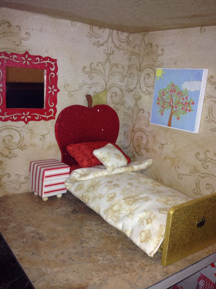 Apple White Room For Ever After High Doll House Decor Bedroom