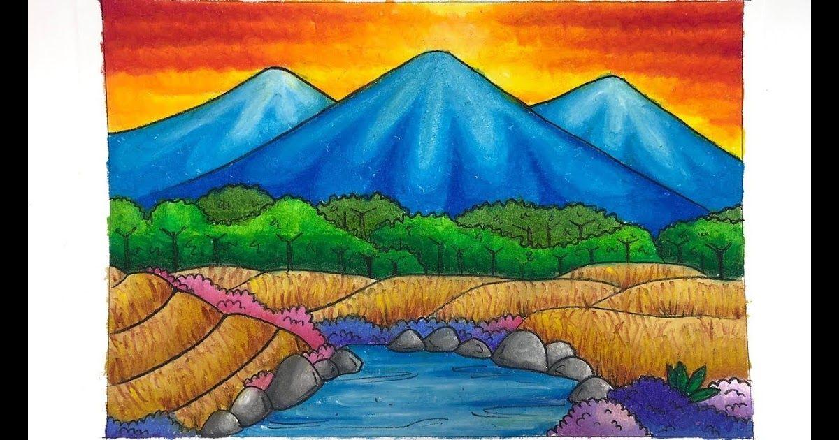 Keren 30 Pemandangan Gunung Crayon Mewarnai Pemandangan Gradasi Dengan Crayon Oil Pastel Download Wow Keren Cara Meng Di 2020 Lukisan Lanskap Painting Pemandangan