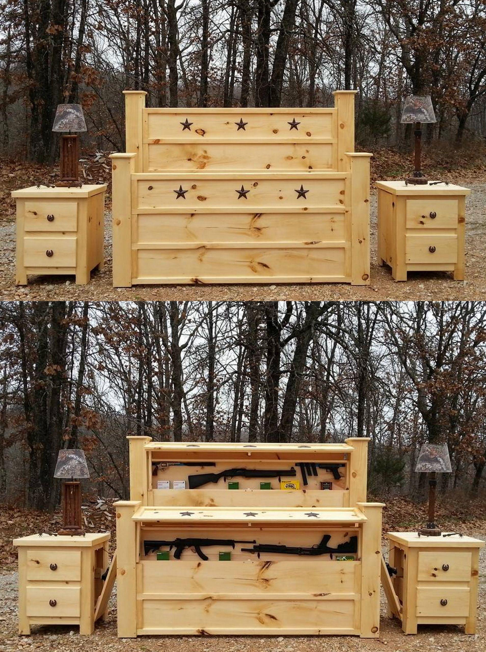 Handmade Rustic Furniture, hidden compartment furniture, secret gun ...