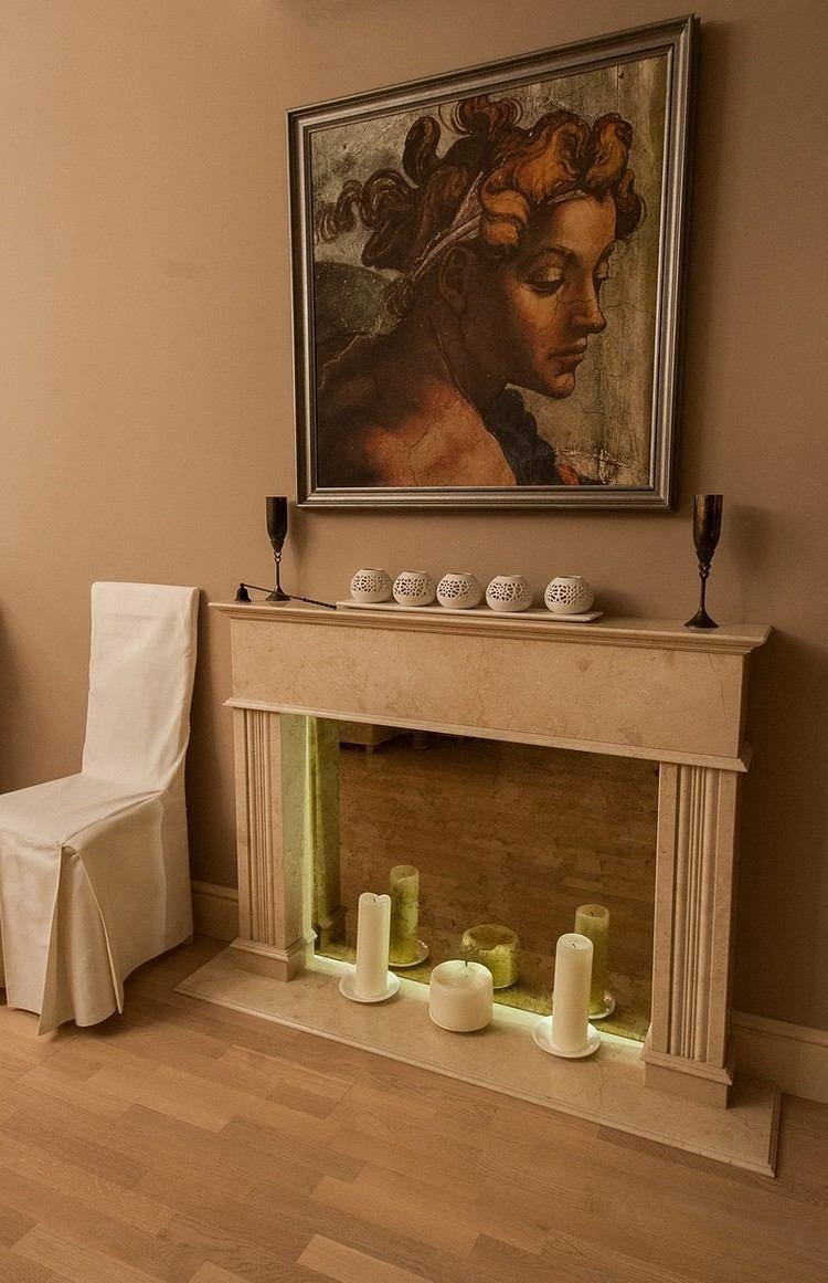 Kaminumrandung Selber Bauen Und Effektvoll Dekorieren. Led BeleuchtungWohnzimmer  ...