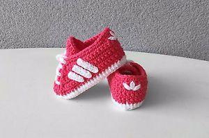 Zapatos AdidasEli̇şi̇ Estilo Bebe CrochetGanchillo Talla 10cm vmOwN0y8n