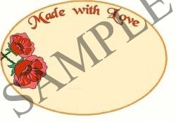 Made with Love Blank Oval Canning Label #OV305B